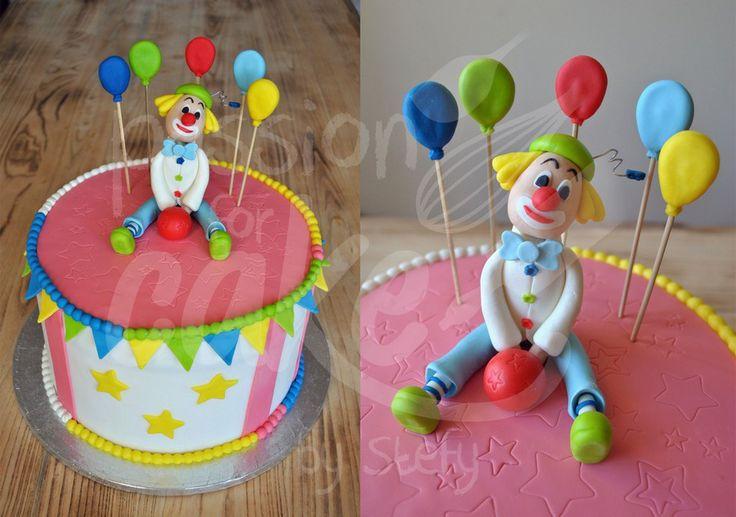 "Torta pagliaccio  - Stefania Biscione ""Passion for cake by Stefy"""