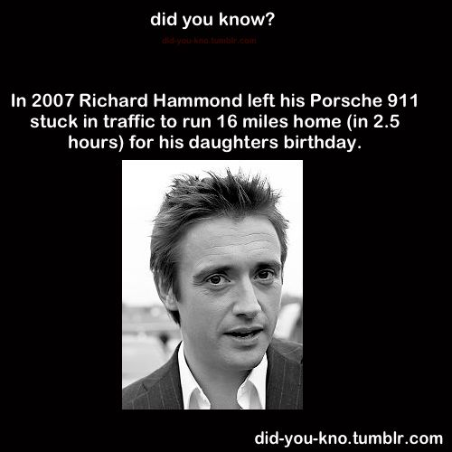 I love Richard Hammond on Top Gear, but I think this says something about priorities.  Maybe he can afford to take a risk like this, and you don't feel you could, but nobody wants their car towed/stolen.  This isn't about possessions.  It's about priorities.