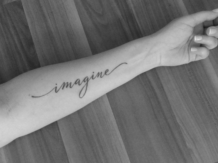 imagine tattoo. Love the font of this one