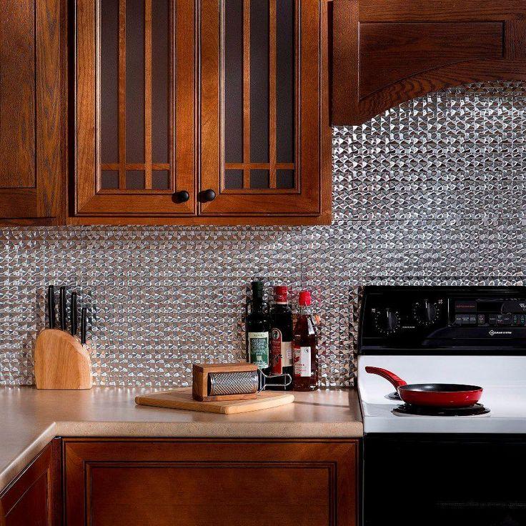 Terrain PVC Decorative Tile Backsplash in Brushed