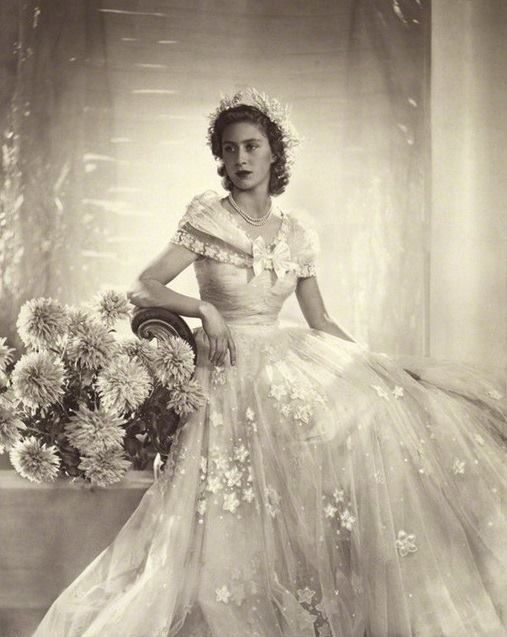 Margaret as a bridesmaid at her sister's wedding