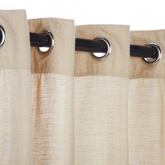 SKU: Honey Sheer Sunbrella Outdoor Curtain W/ Grommets. All Weather Curtains  Designed For Use Outdoors.