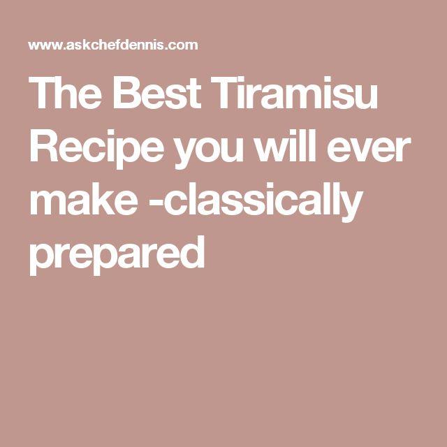 The Best Tiramisu Recipe you will ever make -classically prepared