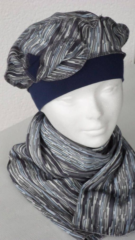 ensemble  bonnet beret chapeau turban  écharpe foulard  créateur   lin eva pour femme  en jersey collection printemps été doux et extensible f8669b1a38a