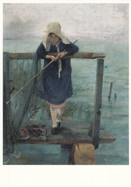 Angling girl, Helene Sofia Schjerfbeck (1862-1946)