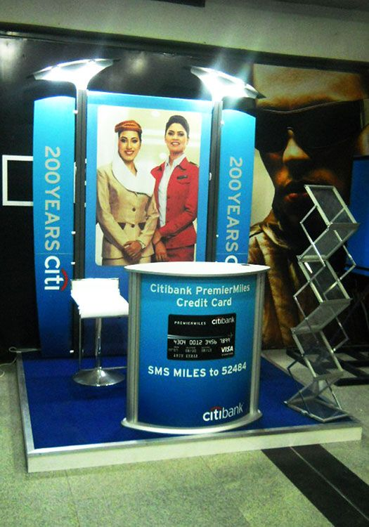 Brand Activation for Citibank using Airlite product. Know about Insta's range of Exhibition Products at http://www.insta-group.com/home.asp
