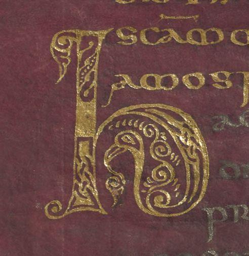 Purple parchment, Gold H