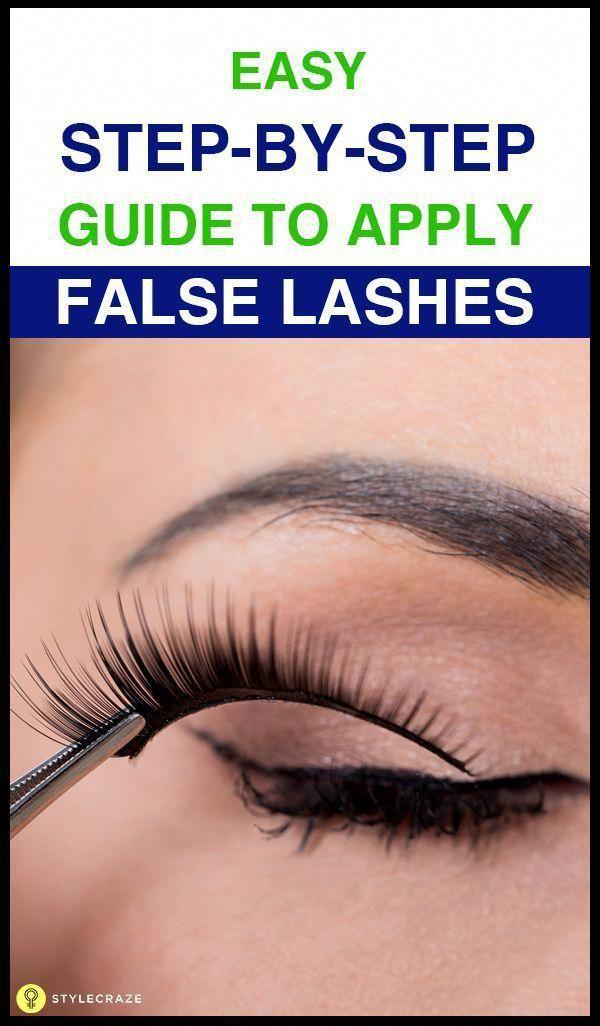 How To Apply False Eyelashes Easy Tips Lashes Feminine Inside