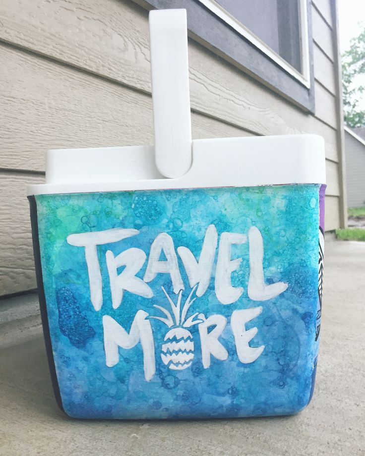 Sorority cooler | girly cooler | painted cooler | Purchase @ www.etsy.com/shop/collectivelyoasis