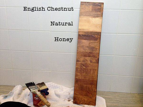 Our Diy Master Bathroom Renovation Included Staining An Ikea Numerar Butcher Block Countertop