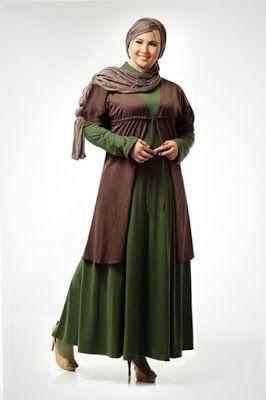 Contoh-Model-Baju-Gamis-Untuk-Wanita-Bertubuh-Gemuk-Terbaik