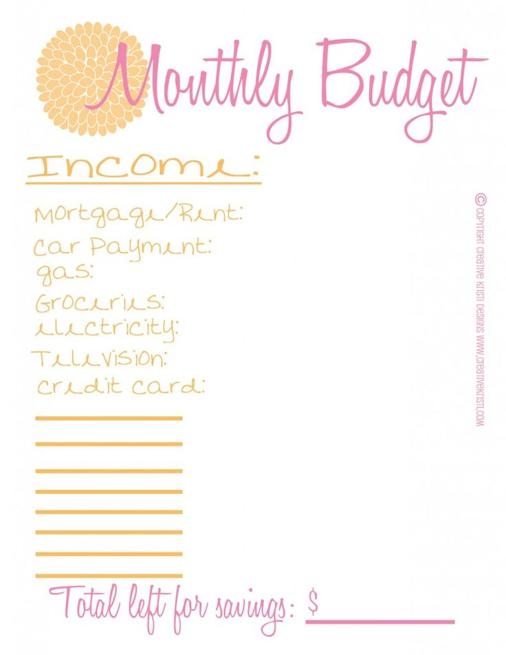 ... Pinterest | Monthly budget, The o'jays and Printable budget sheets