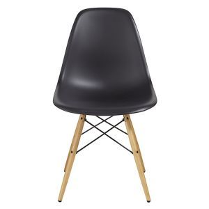 Charles & Ray EAMES DSW Eiffel Mmilo Wooden Base Dining Chairs Retro Style Designer Inspired Side Lounge Living Room Office Chair  - BLACK