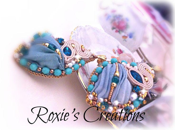 orecchini seta e pietre  https://www.facebook.com/pages/Roxies-Creations/1425843984294757