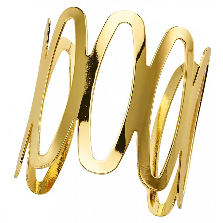 Ladies bronze Design Ovales oval gold bangles - Franchini