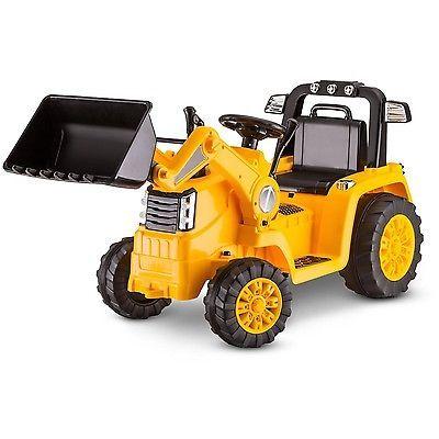Kidtrax CAT Bulldozer/Tractor 6V Battery Powered Ride-On Yellow