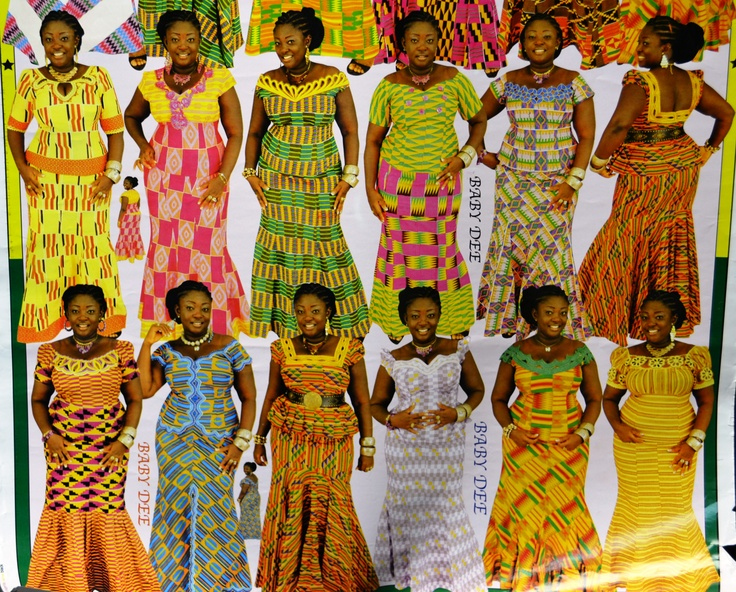 Examples of clothing available through Ghanaian sewing