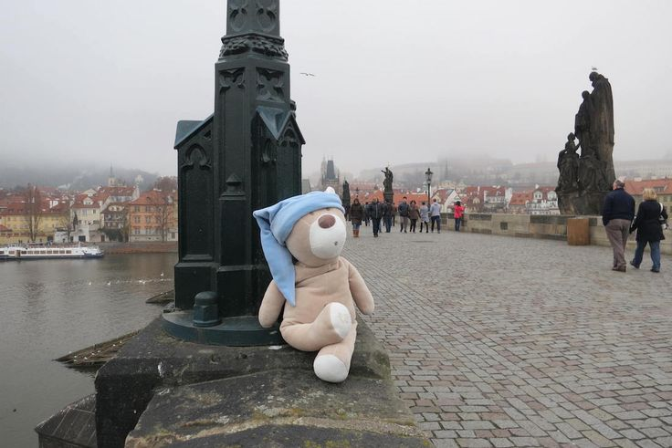 A beautiful day on the Charles Bridge in Prague