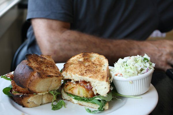 Fried Green Tomato BLT with Herb Mayo | Delish | Pinterest
