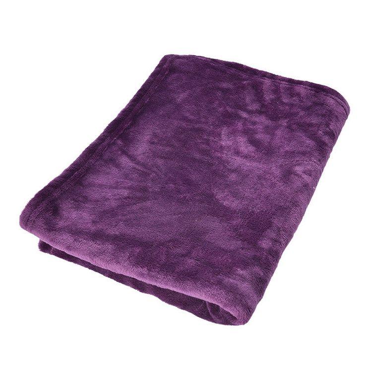 Super Soft Solid Warm Micro Plush Fleece Blanket Throw Rug Sofa Bedding GIFT LJ | eBay