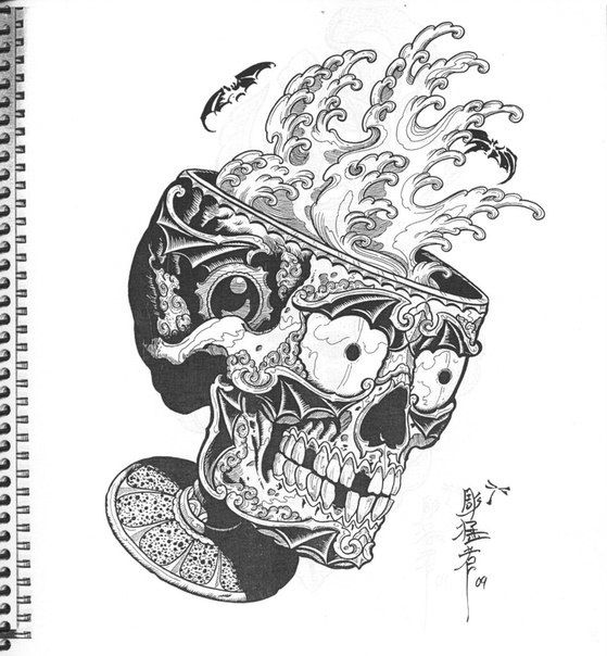 dragons snakes birds skulls jack mosher tattoo designs pinterest bird skull japanese. Black Bedroom Furniture Sets. Home Design Ideas
