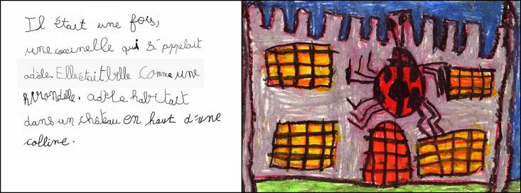 Projet mené en grande section : invention d'une histoire par les élèves à partir des albums d'A. Krings sur les petites bêtes