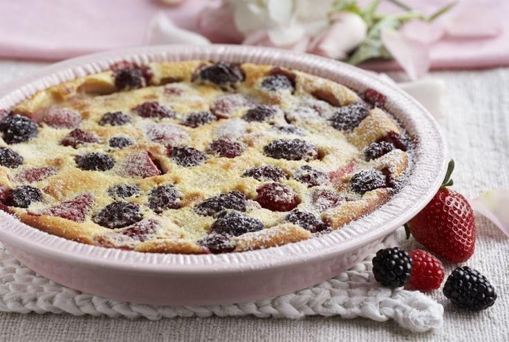 Flaugnarde Of Mixed Berries (Clafoutis) Recipe — Dishmaps