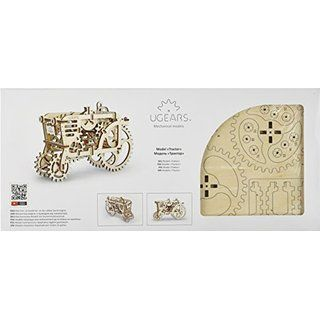 Tractor Model - Unique Glue Free Eco Friendly Wooden Mechanical Self Assembly Moving Kit Ugears