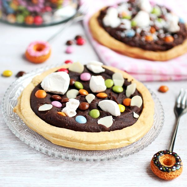 Candy Pizza!  Great dessert for a kids party