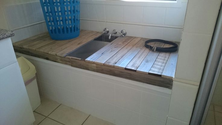 Bath tub cover.  Never use the tub now i have more space.