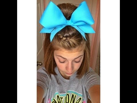 Cheerleader Hairstyles she is as perf in highschool cheer as in all star Find This Pin And More On Cheerleading Hair By Ritacheer552