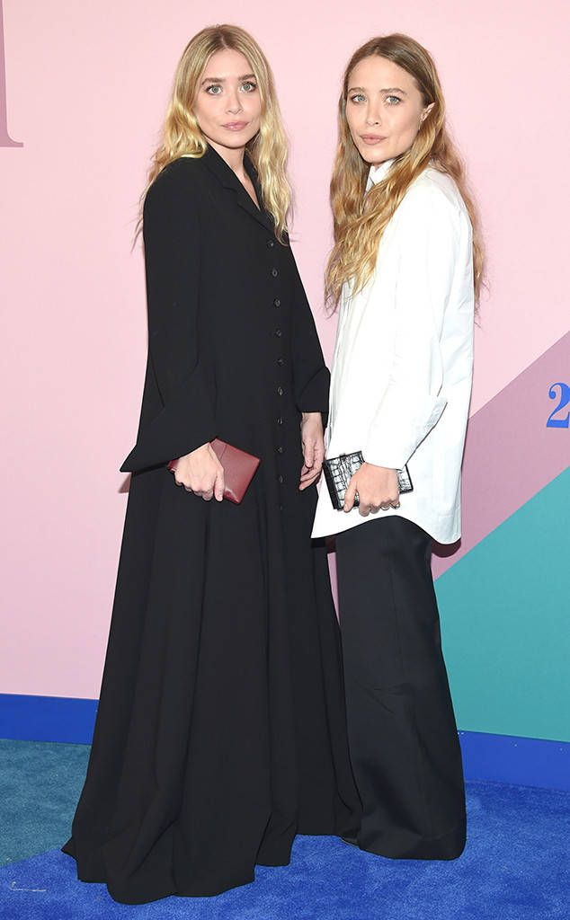 Mary-Kate & Ashley Olsen from CFDA Fashion Awards 2017: Red Carpet Arrivals  Style alert times two! The fashion designers weraing The Row make a rare red carpet appearance to support Diane von Furstenberg's annual event.
