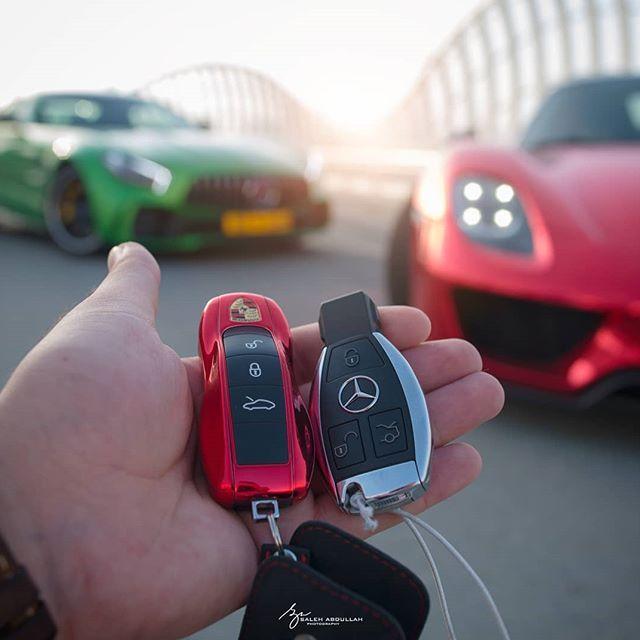 Porsche and Mercedez Benz Key Fob | Cool Luxury Car Keys | Key, Car