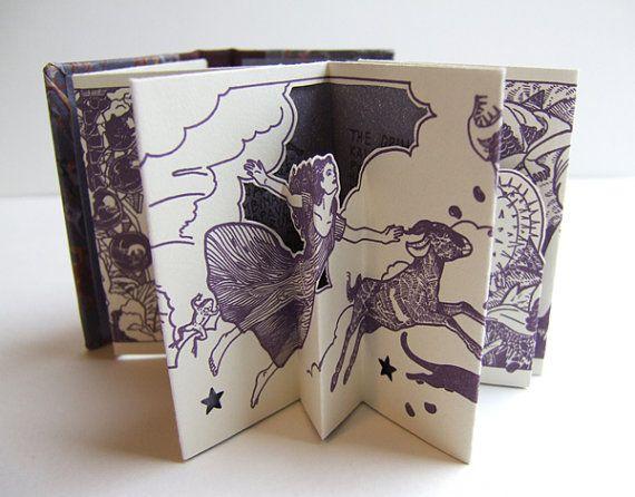 Poison Sisters limited edition pop-up miniature by LambertPress - Lana Lambert's printmaking work is amazing!