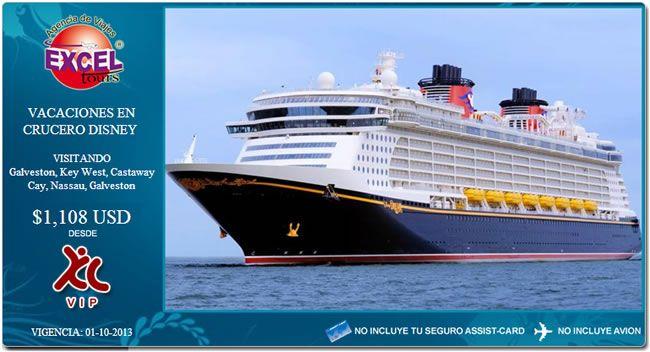 DisneyCruise Line le ofrece unasincreíblesvacaciones en crucero, llenas de diversión para niños y adultos. TITULO LUGARES QUE VISITA O RECORRIDO Vacaciones en Crucero Disney Galveston, Key West, Castaway Cay, Nassau, Galveston INCLUYE NO INCLUYE Crucero Disney Wonder de 8días Cotizado del 14-21 diciembre para 2 adultos y 2 menores Categoríaexterior con veranda Tarifaaérea COMPARACION DE PRECIOS OBSERVACIONES Tarifa por persona $1,108 usd Precios por persona en baseocupacióndbl, en…