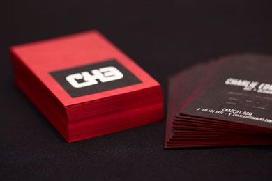 72 best branding business cards images on pinterest brand with custom embossing and full color process printing die cut and finished with red edge painting reheart Images