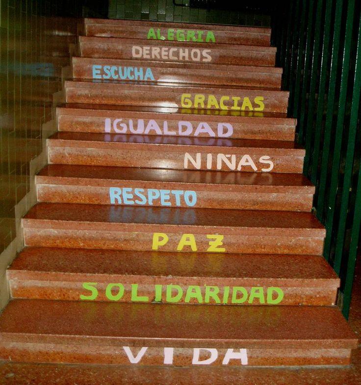 escaleras con mensajes colegios - Buscar con Google