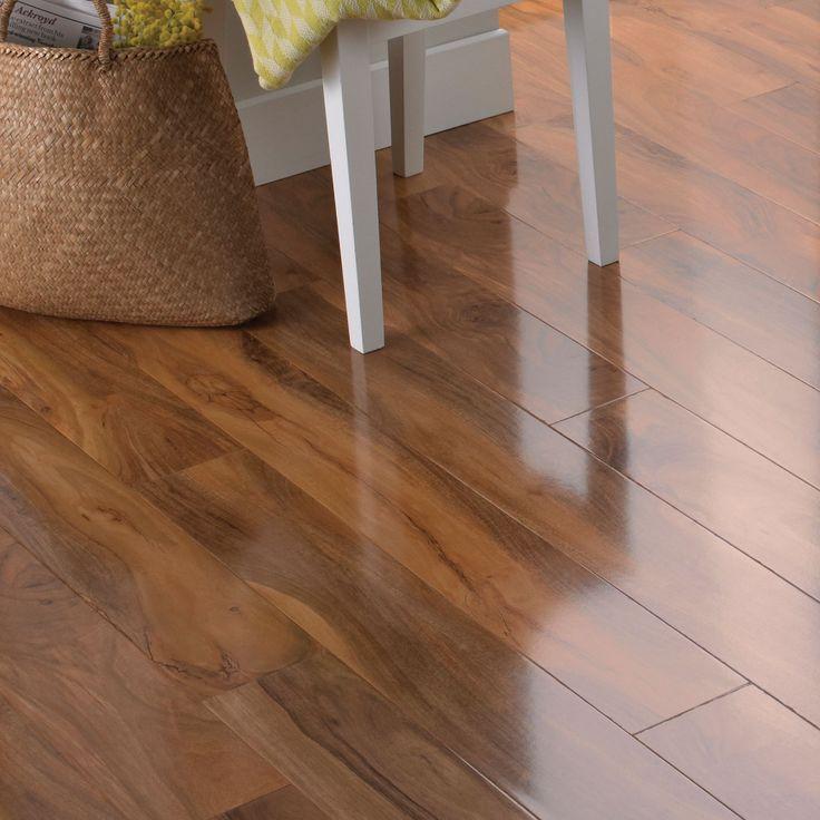 Dolce High Gloss Walnut Effect Laminate Flooring 1.19 m² Pack | Departments | DIY at B&Q