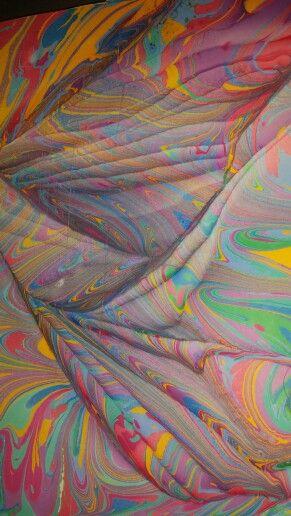 Marbling design by Aynur Sucu.