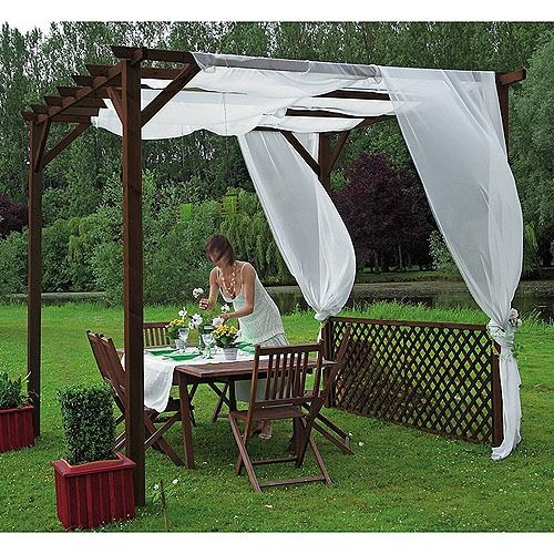 ideas prcticas porches gazebo madrid lovely things patios arch arbors outside decorations - Cenadores Jardin