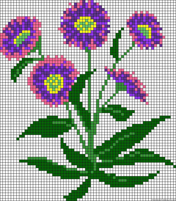 Flowers perler bead pattern