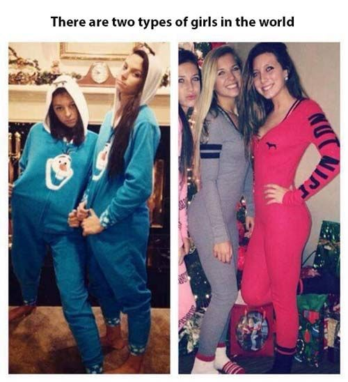 two-types-of-girls-pajamas the ones on the left: