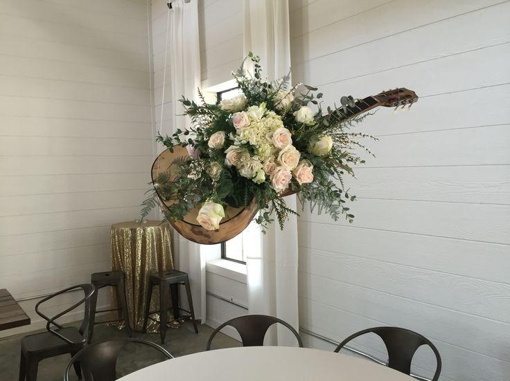 Wedding Hanging Guitar Guitars Flowers Music Themed