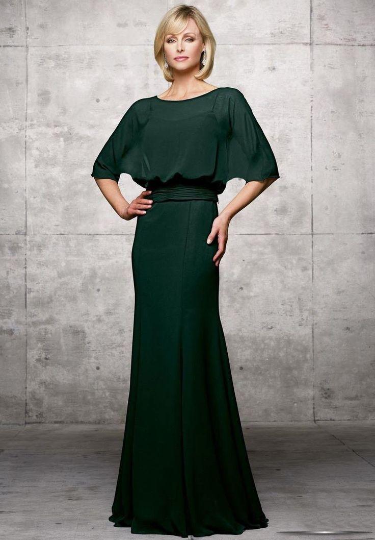 Vestido verde para mães dos noivos