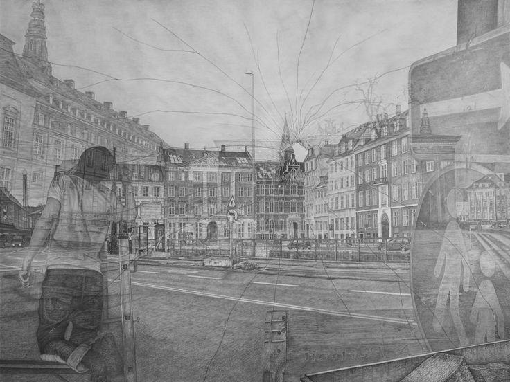 Kasper Købke, art print from drawing, on view November 2014