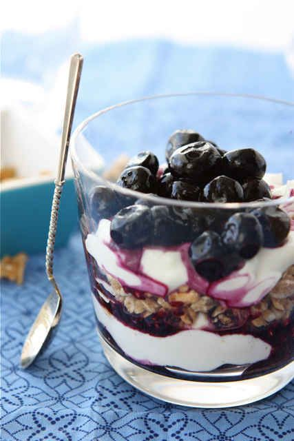 Blueberry Yogurt Parfait with Granola