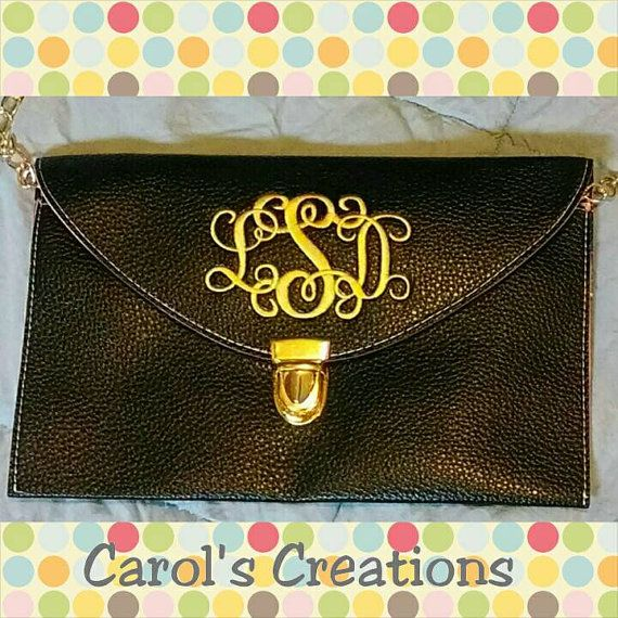 Monogrammed Crossbody Clutch Purse is perfect for fall and holiday events!  Order yours in my Etsy shop https://www.etsy.com/listing/153641683/monogrammed-clutch-crossbody-purse