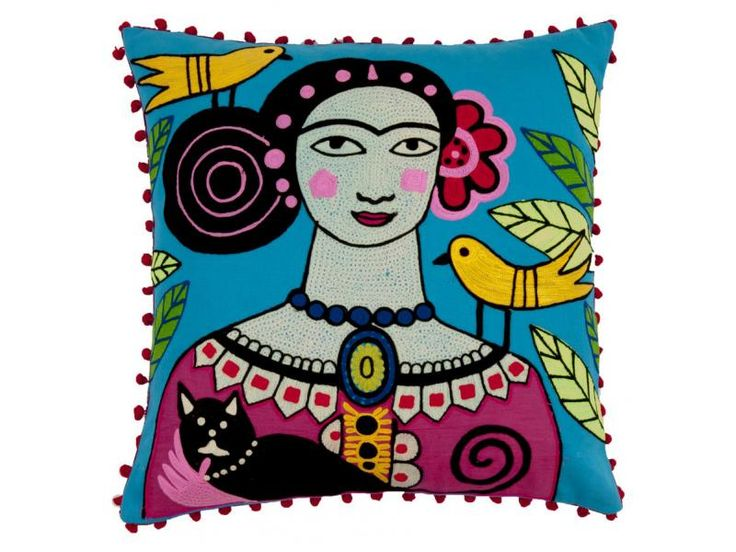 Μαξιλάρι Frida Kahlo 45x45εκ. day of the dead [CC767]