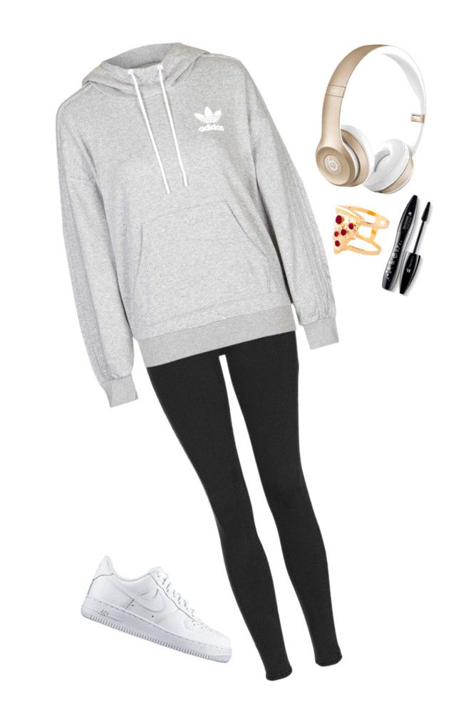 """Untitled #163"" by barbi2003 on Polyvore featuring Topshop, adidas, NIKE, Beats by Dr. Dre, Glenda López, Lancôme, women's clothing, women's fashion, women and female"
