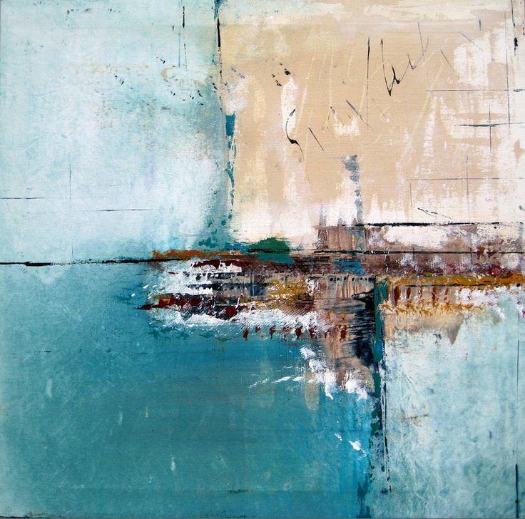 "Saatchi Online Artist: elwira pioro; Acrylic 2013 Painting """"MEET ME BY THE SEA """""